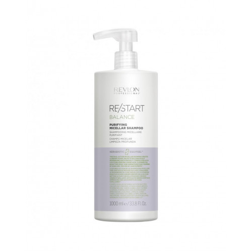 Revlon Professional ReStart Balance Purifying Micellar shampoo - Мицеллярный шампунь для жирной кожи 1000 мл