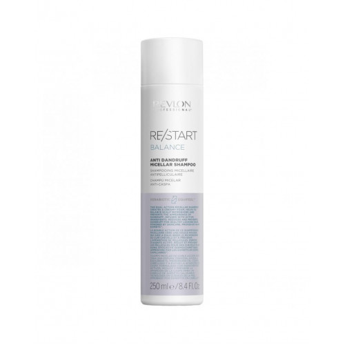 Revlon Professional ReStart Balance Anti Dandruff Micellar shampoo - Мицеллярный шампунь для кожи головы против перхоти и шелушений 250 мл
