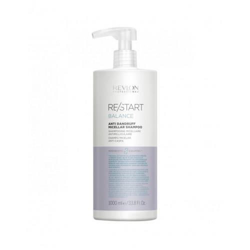 Revlon Professional ReStart Balance Anti Dandruff Micellar shampoo - Мицеллярный шампунь для кожи головы против перхоти и шелушений 1000 мл