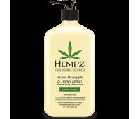 Hempz Herbal Sweet Pineapple & Honey Melon - Молочко для тела увлажняющее Ананас и Медовая Дыня 500 мл